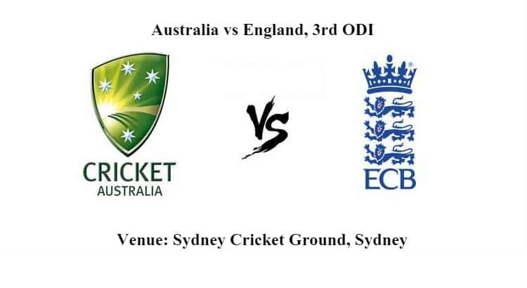 Australia vs England 3rd ODI Betting Tips