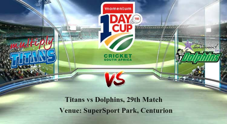Titans vs Dolphins 29th ODI Betting Tips