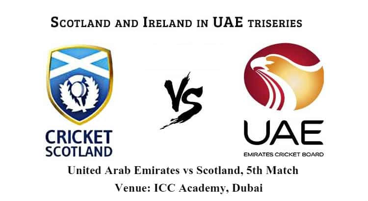 United Arab Emirates vs Scotland 5th ODI Betting Tips