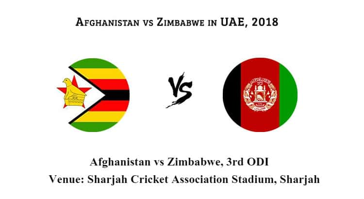 Afghanistan vs Zimbabwe 3rd ODI Betting Tips