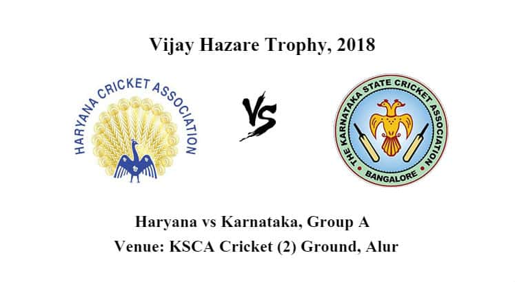 Haryana vs Karnataka Group A Betting Tips