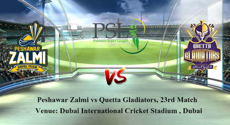 Peshawar Zalmi vs Quetta Gladiators 23rd T20 Betting Tips
