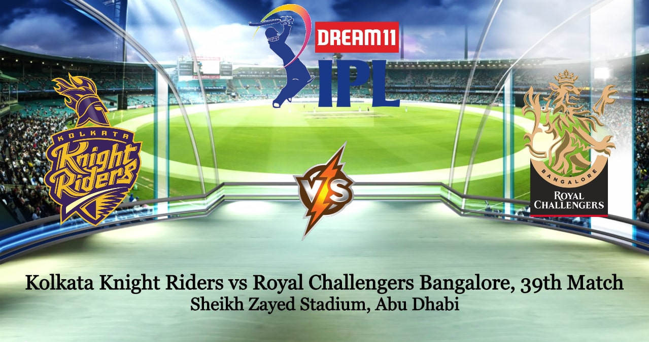 Kolkata Knight Riders vs Royal Challengers Bangalore 39th IPL T20 Betting Tips